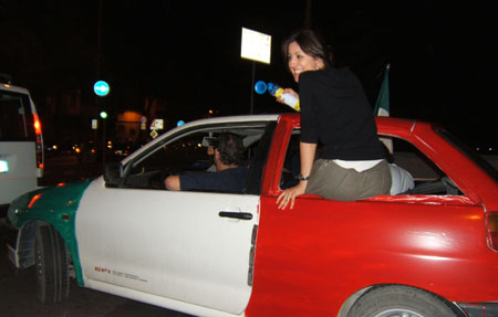 Italian car (450Wx287H) - Party on the road ... (Photo by Danette St.Onge)