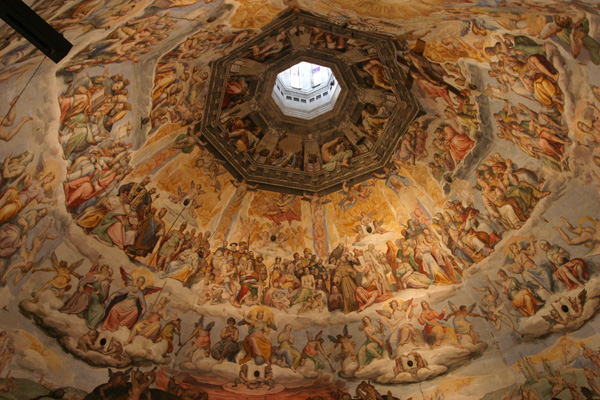 Duomo di Firenze (600Wx400H) - A wonderful view of the Fresco of the