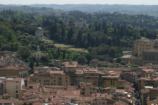 Boboli Garden (600Wx400H) - Boboli Garden viewed from the top of the Duomo of Florence (Photo by Marco De La Pierre)