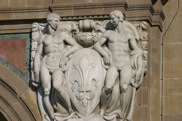 National Library of Florence (600Wx400H) - A beautiful decoration on the Biblioteca Nazionale facade. (Photo by Marco De La Pierre)