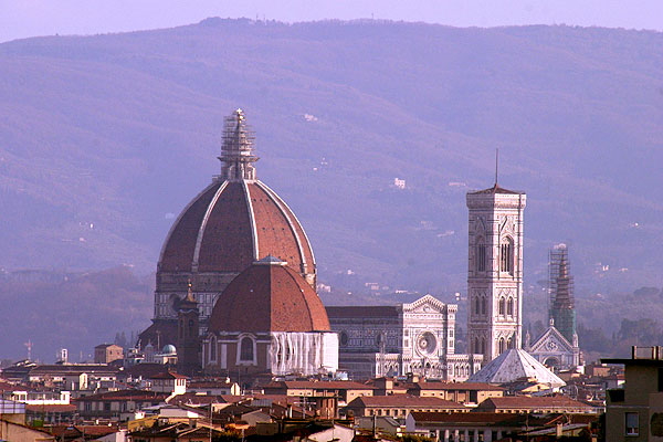 Duomo Cathedral (600Wx400H) - Picture of Duomo Cathedral taken from the tenth floor a building located in Novoli district - (Photo by Marco De La Pierre)
