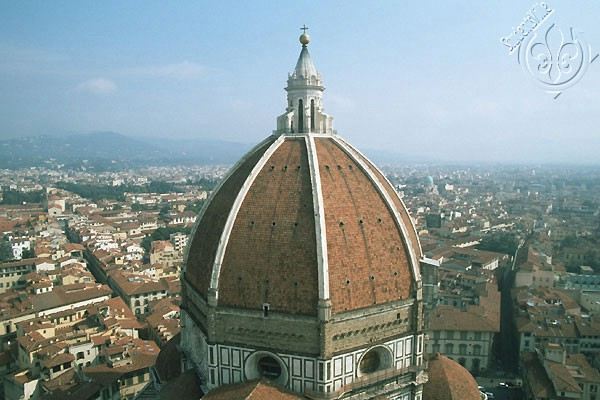 The Cupola (600Wx400H) - The Brunelleshi's Dome (Cupola) viewed from Giotto's tower ...