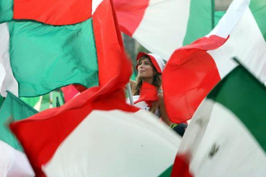 Italian Flags... (530Wx353H) - Italian Flags after the goal of Grosso...Italy Champion for the 4th time! (Photo Courtesy of Repubblica.it)