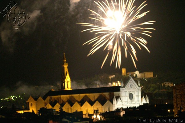Fireworks (600Wx400H) - Fireworks above Santa Croce, the night of San Giovanni (24th of June)