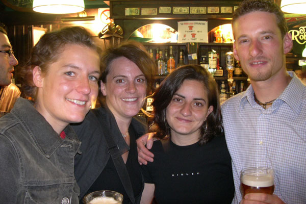 International students (600Wx400H) - The coolest side of globalization ? International Students drinking Belgian and Dutch beer at a Spanish Party, speaking Italian,  German and English  among them, in an Irish Pub in Florence, Italy...