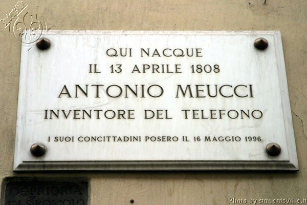 Antonio Meucci (600Wx400H) - Antonio Meucci is an ex student of the University of Florence (Accademia delle Belle Arti - Fine Arts Academy). This target is located in Via dei Serragli (Santo Spirito) where he borned in 1808. He (and not Mr Bell) invented in Florence the telephone...