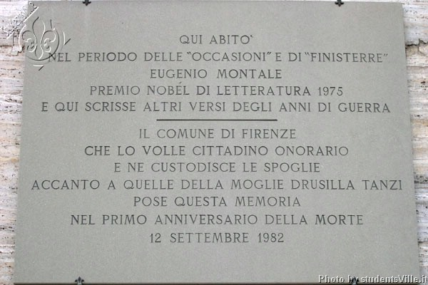 Nobel Prize (600Wx400H) - Eugenio Montale, Nobel Prize for literature lived very close to Piazza Beccaria...