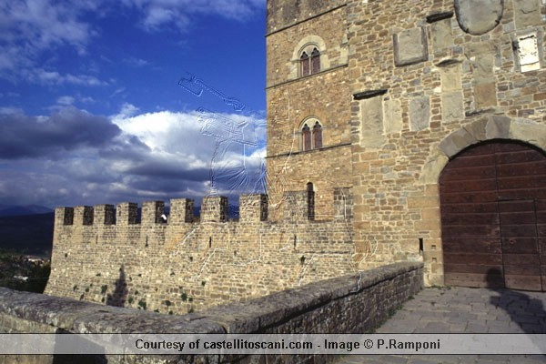 Castello di Poppi  (600Wx400H) - Castello di Poppi  - Photo Courtesy of castellitoscany.com