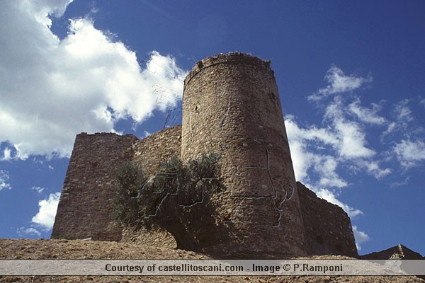 Castle of Scarlino  (600Wx400H) - Castle of Scarlino - Courtesy of castellitoscani.com