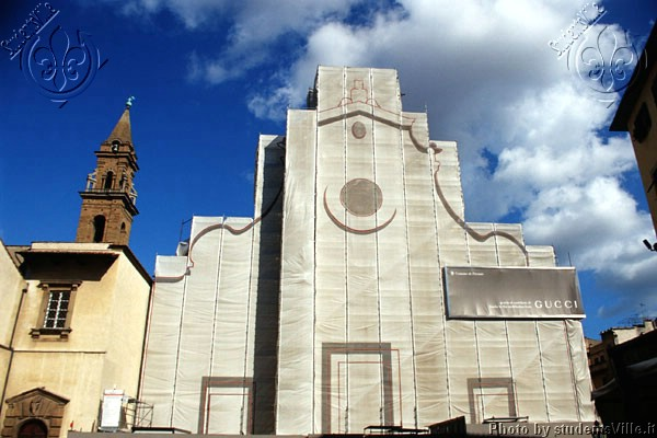 Santo Spirito (600Wx400H) - The (sponsored) facade of S.Spirito Church during the works of restoration. (Photo by Marco De La Pierre)